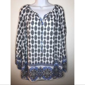 Notations Womens Blouse